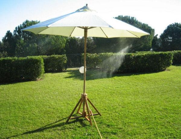 CLIC & COOL BRUMISATION - Sonnenschirm mit Zerstäuber-CLIC & COOL BRUMISATION-Bamboo