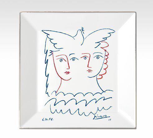 MARC DE LADOUCETTE PARIS - Vide-Poche-MARC DE LADOUCETTE PARIS-Picasso Deux femmes et Colombe 1956