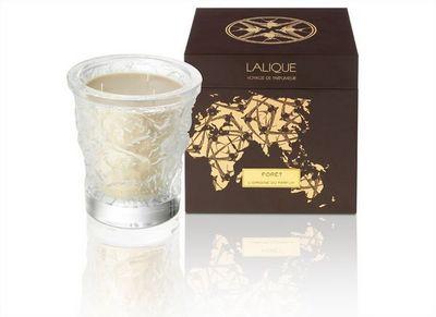 Lalique - Kerze-Lalique-Bougie vase de cristal  750 g Foret