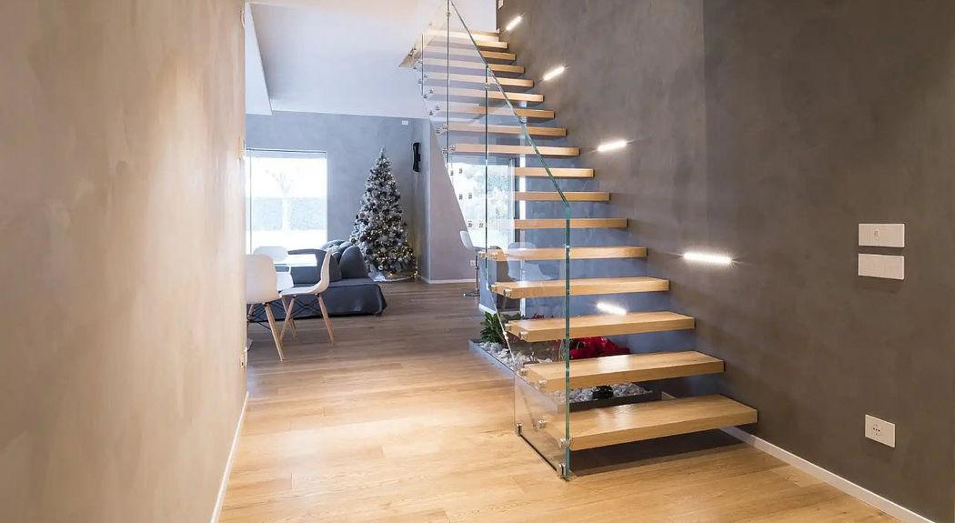 NOVALINEA Escalera recta Escaleras/escalas Equipo para la casa   