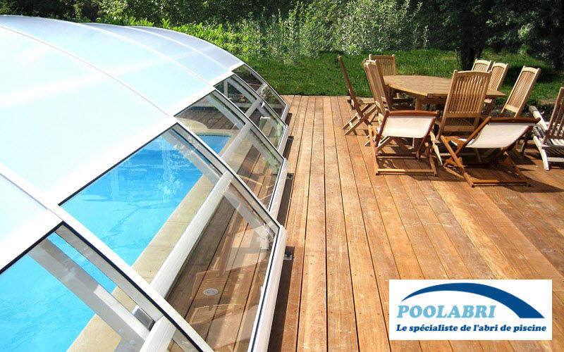 Abri piscine POOLABRI Cobertizo de piscina rodable o telescópico Cabinas de piscina Piscina y Spa Jardín-Piscina | Design Contemporáneo