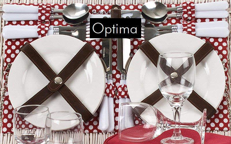 The Optima Company Cesta de pic-nic Varios Exterior Jardín Diverso Jardín-Piscina | Rústico