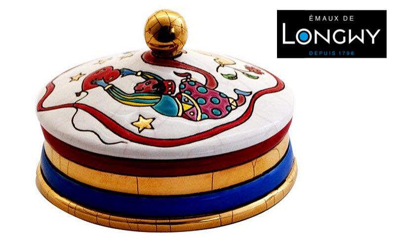 Emaux De Longwy Caja decorativa Cajas decorativas Objetos decorativos  |