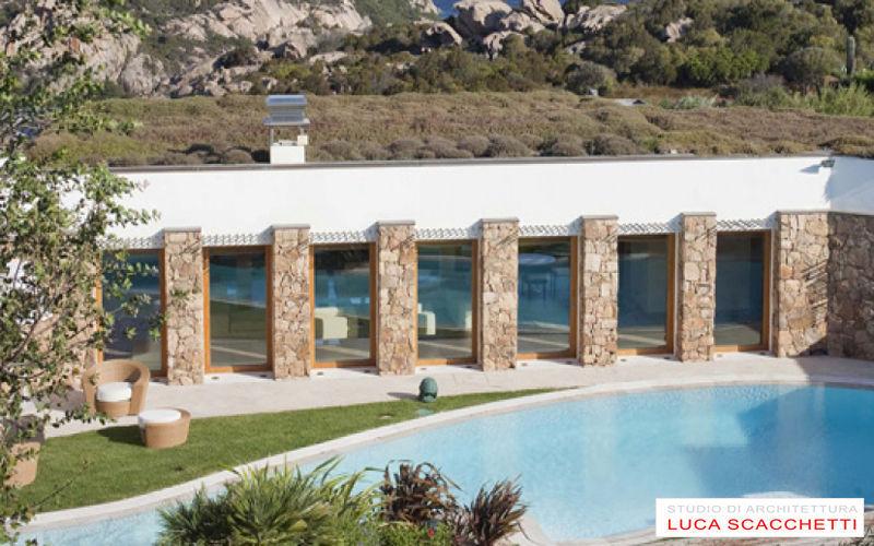 LUCA SCACCHETTI Casa individual Casas individuales Casas isoladas Terraza   Lugares exóticos