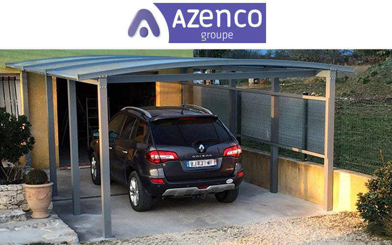 AZENCO Cobertizo de coche-carport Casetas Jardín Cobertizos Verjas...  |