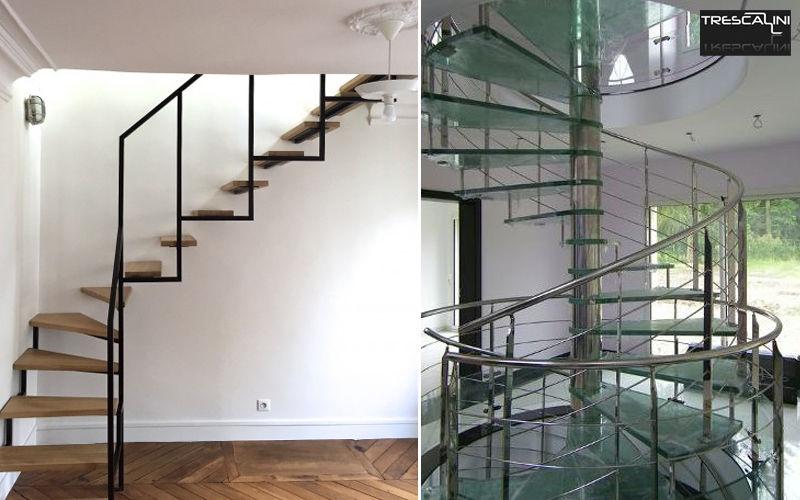 TRESCALINI Escalera con tramo curvo Escaleras/escalas Equipo para la casa  |