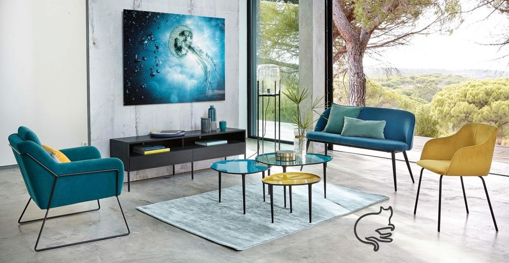 MAISONS DU MONDE Conjunto de salón Salones Asientos & Sofás  | Design Contemporáneo