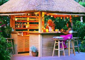 Barra de bar para jardín