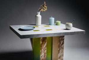 Mesa de comedor rectangular-Maison Derudet-Lamellé Roches