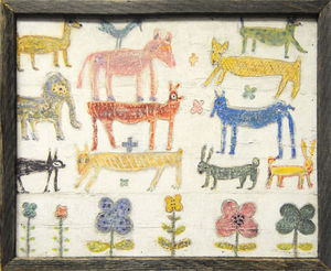 Sugarboo Designs - art print - stacked animals - Cuadro Decorativo