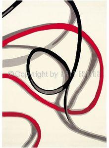 Arte Espina - tapis de salon red trace 1 blanc 170x240 en acryli - Alfombra Contemporánea