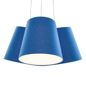 FrauMaier - cluster - suspension 3 abat-jours bleu ø39cm | sus - Lámpara Colgante