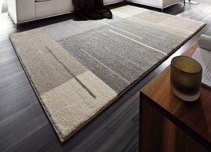 WHITE LABEL - samoa design tapis patchwork gris taupe 160x230 c - Alfombra Contemporánea