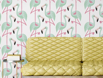 PAPERMINT - flamingo mint - Papel Pintado