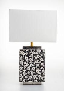 Emaux De Longwy - graphit flower - Lámpara De Sobremesa