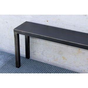 Mathi Design - banc acier loft - Banco De Jardín