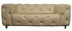 Designer Sofas4u - designer sparks swarovski leather sofa - Sofá 3 Plazas