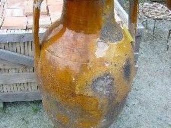 antiquites materiaux anciens deco de jardins - amphore en terre cuite - Ánfora