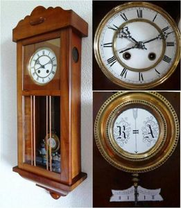 ANTICUARIUM - cherry wall clock - Reloj De Pared