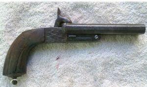 ANTIGÜEDADES LINARES - pistola le faucheux - Carabina Y Fusil