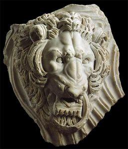 ANTOINE CHENEVIERE FINE ARTS - roman marble lion - Escultura De Animal