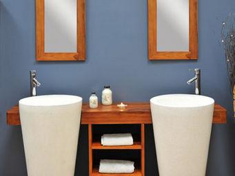 SANITECK - meuble de salle de bain en teck cleopatra - Mueble De Ba�o Dos Senos