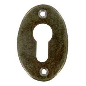 FERRURES ET PATINES - entree de clef ovale - cylindre - en fer vieilli p - Entrada De Llave