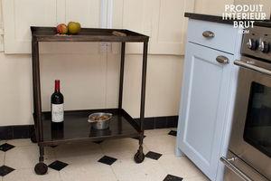 Produit Interieur Brut.com - desserte en métal sombre - Mesa Auxiliar