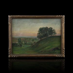 Expertissim - jean-marie camus (1877-1955). collines au crépuscu - Paisaje