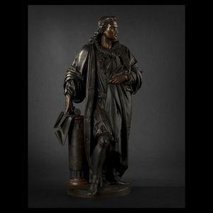Expertissim - carrier bronze représentant denis papin - Escultura