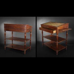 Expertissim - meuble à écrire debout en acajou. epoque victorien - Mueble Escritorio