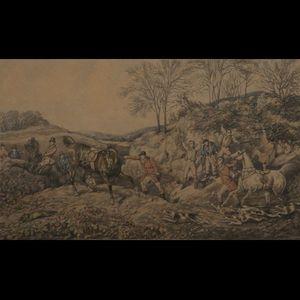 Expertissim - trois lithographies anglaises en couleur chasse à  - Litografía