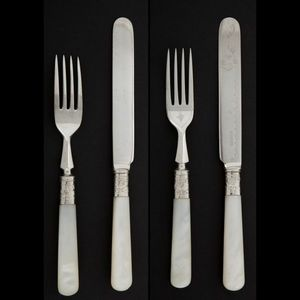 Expertissim - douze fourchettes et douze couteaux à dessert en m - Cubiertos De Postre