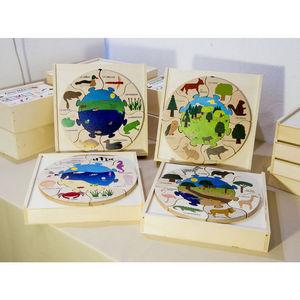 ANIM'EN BOIS - puzzle milieu naturel mare (2-5 ans) - Juguete De Madera