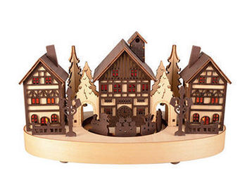 Blachere Illumination - village & train bois bicolore - Decoraci�n De �rbol De Navidad