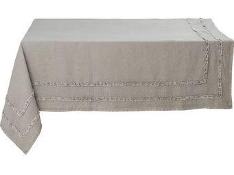 Athezza Home - nappe riga grise 150x150cm - Mantel Rectangular