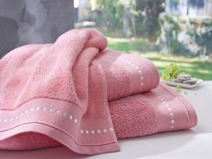 BLANC CERISE - serviette de toilette corail- coton peigné 600 g/m - Toalla De Baño