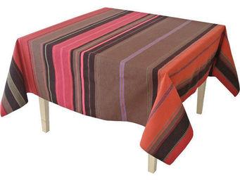 Les Toiles Du Soleil - nappe carrée tsar rouge - Mantel Cuadrado