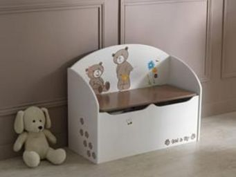 Up Trade - coffre jouets ourson - Ba�l Para Juguetes