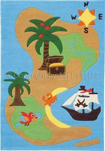 Arte Espina - tapis design enfant - l'ile aux trésors - Alfombra Para Niño