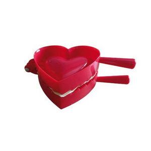 WHITE LABEL - presse à chaussons et biscuits en forme de coeur - Utensilio De Cocina