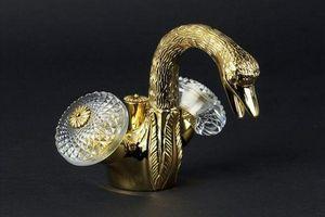 Cristal Et Bronze - cygne ailé - Grifo Doble Mando De Bidé