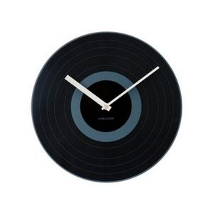 Present Time - horloge black record - Reloj De Pared