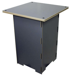 WERKHAUS - table de jeu grise en bois pour enfant 50x50x67cm - Mesa Para Niño