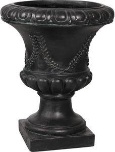 Aubry-Gaspard - vase antique en fibre de verre noir - Jarrón Medicis