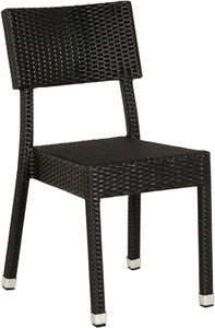 KOKOON DESIGN - chaise résina en osier tressé synthétique noir 56x - Silla De Jardín