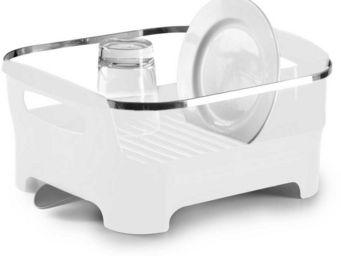 Umbra - egouttoir à vaisselle blanc avec bec de drainage a - Escurridor