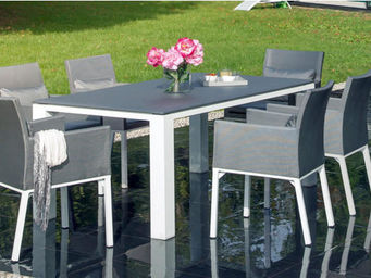 PROLOISIRS - salon de jardin oslo gris 1 table + 6 fauteuils - Comedor De Exterior