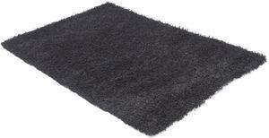 KOKOON DESIGN - tapis à poils longs en polypropylène noir 230x160c - Alfombra Contemporánea