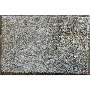 TODAY - tapis salle de bain à mèche gris clair - Alfombra De Baño